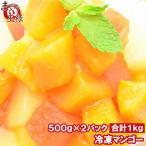 冷凍 マンゴー 1kg 500g×2 カットマンゴー 冷凍フルーツ ヨナナス