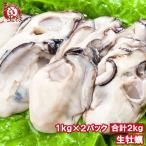 生牡蠣 2kg 生食用 牡蠣 カキ かき 冷凍時1kg 解凍後850g前後×2パック 冷凍 むき身