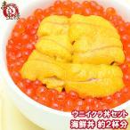 築地市場のウニイクラ丼セット(2杯分 無添加生ウニ100g&いくら醤油漬け100g)海鮮丼で約2杯分