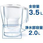 セット買いブリタ 浄水器 ポット 浄水部容量:2.0L(全容量:3.5L) アルーナ XL マクストラプラス カートリッジ 1個付き 日本仕
