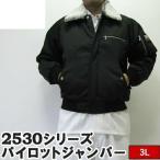 ()寅壱/寅一/2530シリーズ 大きいサイズ パイロットジャンパー ドカジャン(13)クロ(2530-124) 3L,4L 作業着 ニッカポッカ