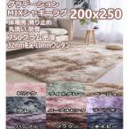 ラグマット マット 200×250 9色 毛足3cm  6畳 6帖 3畳 リビング 洗える シャギーラグ グラデーション 北欧 ラグカーペット 床暖房 オールシーズン 低反発