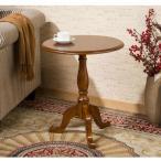 MAHOME (マホーム) サイドテーブル ナイトテーブル ラウンドテーブル 木製テーブル ナチュラル 円形テーブル 北欧 西海岸 木製 円形 ウォールナット 51*51*66CM