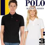 ポロ ラルフローレン Polo Ralph Lauren ポロシャツ ボーイズ レディース メンズ 半袖 シャツ スリム 白 ホワイト 黒 ブラック 紺 ネイビー ゴルフ M L XL
