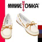 ショッピングミネトンカ ミネトンカ モカシン 白 ネイビー ブーツ セール 2015 日本正規品 ボートモック MINNETONKA BOAT MOC
