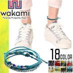 Anklet - ワカミ wakami アンクレット ブレスレット メンズ レディース ミサンガ ラップブレスレット ビーズ ブランド 3Strand Anklets