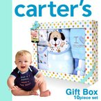 カーターズ アウトレット ロンパース スタイ よだれかけ おしゃれ 出産祝い おもちゃ タオル Carter's 10点セット