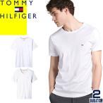 トミーヒルフィガー TOMMY HILFIGER Tシャツ メンズ 半袖 コア フラッグ 無地 コットン クルーネック Vネック ブランド おしゃれ 大きい 白 ホワイト