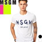 エムエスジーエム MSGM Tシャツ 半袖 メンズ プリント ロゴ 無地 ホワイト ブラック 白 黒 MM97-184299