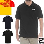 ノースフェイス THE NORTH FACE ポロシャツ メンズ 半袖 ブランド 鹿の子 ゴルフ スポーツ 大きいサイズ ワンポイント 黒 ブラック