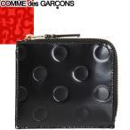 コムデギャルソン COMME des GARCONS 財布 小銭入れ コインケース ポルカドット メンズ レディース L字ファスナー ブランド 本革 革 黒 ブラック SA3100NE