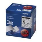 送料無料 brother ブラザー工業 文字テープ/ラベルプリンター用テープ 〔幅:9mm〕 5個入り TZe-121V 透明に黒文字