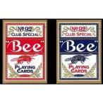 送料無料 Bee ビー (ポーカーサイズ) No.92 Club Special -ブルー-