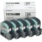 送料無料 (業務用5セット) キングジム テプラ PROテープ/ラベルライター用テープ 〔幅:24mm〕 5個入り ST24K-5P 透明