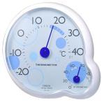 送料無料 クレセル 温湿度計 ripple(リップル) 壁掛け・卓上用 ブルー CR-140B