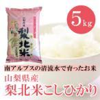 山梨県産  梨北米 コシヒカリ 5kg  白米 通販 南アルプスの清流水で育った美味しいお米