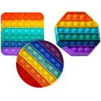 3枚入り スクイーズ玩具 プッシュポップ ボードゲーム バブル感覚 減圧おもちゃ