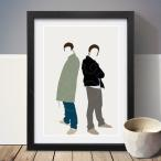 (定形外郵便送料無料) Liam Gallagher & Noel Gallagher リアムギャラガー & ノエルギャラガー A3 アート ポスター 北欧 リビング Art Poster画像