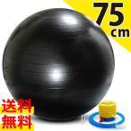 バランスボール 75cm メタルブラック 1個 空気入れ付き 送料無料