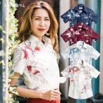 かりゆしウェア 沖縄 アロハシャツ MAJUN マジュン かりゆし 結婚式 レディースシャツスキッパーフルルグラディエ