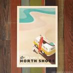 Nick Kuchar Retro Hawaii Travel Print See Oahu's North Shore 30.5×45.7cm ハワイアン雑貨 ニック カッチャー サーフ アート レトロ ハワイ プリント