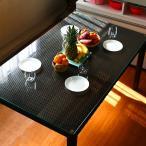 ダイニングテーブル アジアン リゾート 強化 ガラス ラタンスタイル 4人用 幅150×奥行90×高さ73cc  RD-T8302 アウトレット セール