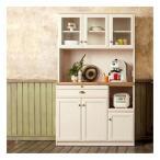 ユーアイ  クリチコ カントリー調の食器棚  木目ホワイト K-105HOP  クリチコ食器棚 クリチコシリーズ 日本製 国産