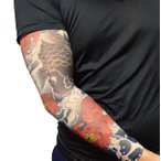 nuturary zero(ナチュラリーゼロ) 和柄タトゥースリーブ 4枚セット 鯉×蓮の葉 リアル アームカバー 刺青
