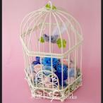 ショッピング鳥 プリザーブドフラワー 誕生日 フラワーギフト バードハウス フラワーインテリア 幸せの青い鳥