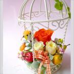 ショッピング鳥 母の日 母の日ギフト プリザーブドフラワー 誕生日 フラワーギフト プリザーブドアレンジ  バードハウス フラワーインテリア