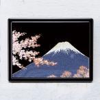 1509-02-12 蒔絵付箋ケース「雅」 富士に桜