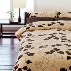 ショッピング西川 西川リビングの寝具カバー3点セット ME-03 布団用シングル カラー:ブラウン(ベージュ×ブラウン)