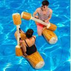 カヤック ボート 浮き輪 たたき合い 競技 マリンスポーツ 面白 浮き輪 140cm  水遊び 空気入れボート 4点セット 2人用 夏遊び プール 海 遊び グッズ 海水浴
