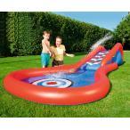 ベビープール ウォータースライダー 噴水付き 滑り台プール 子供用 庭プール 空気入れプール 水遊び キッズ 夏 レジャー  遊具 夏遊び プール 遊び グッズ