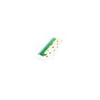 日本製名前入りガーゼフェイスタオルとタオル製よだれかけのお揃いギフトセット(さる)[赤ちゃん 名入れタオル 名入れスタイ ビブ]