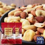 ミックスナッツ QBB 業務用 500g×2(1kg) まとめ買い ピーナッツ カシューナッツ ジャイアントコーン アーモンド ヘーゼルナッツ