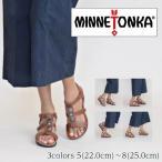 ショッピングミネトンカ 正規店 ミネトンカ BOCA SLIDE3 ボカスライド3 サンダル 本革 ウェッジヒール ヒール約3cm