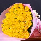 バラの花束☆70本☆誕生日ギフトに贈るプラチナローズのバラ花束・送料無料・指定日配達対応