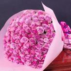 バラの花束☆90本☆誕生日ギフトに贈るプラチナローズのバラ花束・送料無料・指定日配達対応 母の日 女性 バラ 花束 プレゼント プロポーズ