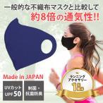 高通気性ランニングマスク mamoRUNtoマモラント ダークブルー【在庫あり】息苦しさ軽減 洗えるマスク 日本製 UVカット バフbuff メール便 スポーツマスク