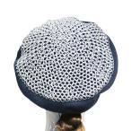 貝雷帽 - MetaMeta Hat メタメタハット  チェインメイルベレー ハーフ ネイビー