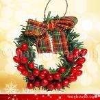 クリスマスリース ミニサイズ クリスマスツリー 飾り ディスプレイ ラッピング用品 メール便発送可