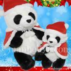 6%OFF クリスマス パンダ ぬいぐるみ 親子 動物園 CUTE キュート販売 お座りパンダ M・Sセット サンタ衣装