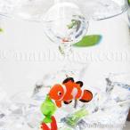 熱帯魚 インテリア 雑貨 フロート 浮き玉 ガラス細工 海 浮き球 クマノミ 【メール便発送可】