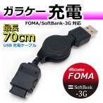 コアウェーブ ガラケー FOMA/Softbank-3G用 USB充電器 リールタイプ CW-151F