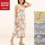 かりゆしウェア 沖縄 アロハシャツ MANGO HOUSE リゾート 結婚式 お揃い ペア シンプルワンピース パイナップルパラダイス レディース