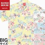かりゆしウェア 沖縄 アロハシャツ MANGO HOUSE リゾート 結婚式 お揃い ペア 大きいサイズ がんばるヤンバルクイナ(裏地仕様)メンズ