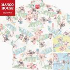 かりゆしウェア 沖縄 アロハシャツ MANGO HOUSE リゾート 結婚式 お揃い ペア 長袖シャツ がんばるヤンバルクイナ(裏地仕様)メンズ