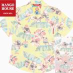 かりゆしウェア 沖縄 アロハシャツ MANGO HOUSE リゾート 結婚式 お揃い ペア 207113 がんばるヤンバルクイナ(裏地仕様) レディース