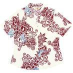 かりゆしウェア(沖縄アロハシャツ)レディース MANGO 大柄クイナ オープンシャツ オフレッド